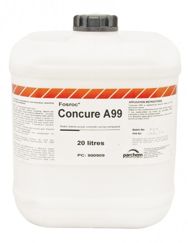 concure a99  u2013 water based concrete curing compound